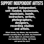 Support independent Artists